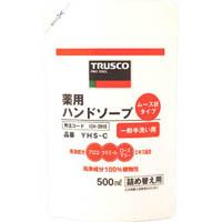 【CAINZ DASH】TRUSCO 薬用ハンドソープ ムース状 袋入詰替 500ml (1本=1袋)