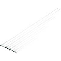 【CAINZ DASH】パンドウイット MLTタイプ 自動ロック式ステンレススチールバンド SUS316 幅4.6mm 長さ681mm 100本入り MLT8S−CP316