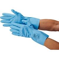 """サミテック 耐油・耐溶剤手袋""""サミテックGB-F-06"""" L ブルー 4492"""