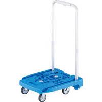 TRUSCO 伸縮ハンドル式樹脂台車 アイドルキャリー weego ブルー WP2 B