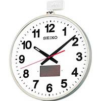 【CAINZ DASH】SEIKO ソーラー屋外用大型電波掛時計 527×450×78 金属枠