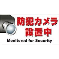 【CAINZ DASH】ニチレイ マグネット標識 150×300 防犯カメラ設置中