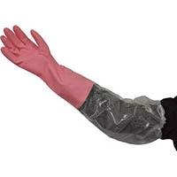 ダンロップ ビニール厚手 腕カバー付 M ピンク 6360