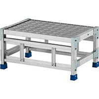 【CAINZ DASH】アルインコ 作業台(天板縞板タイプ)1段 天板寸法600×400mm 高0.3m