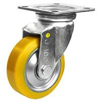 【CAINZ DASH】シシク 静電気帯電防止キャスター ウレタン車輪 自在 100径
