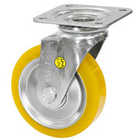 【CAINZ DASH】シシク 静電気帯電防止キャスター ウレタン車輪 自在 150径