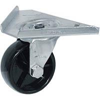 【CAINZ DASH】シシク コーナーキャスター ナイロン車輪 65径 ユニクロメッキ