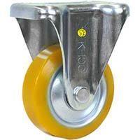 【CAINZ DASH】シシク 静電気帯電防止キャスター ウレタン車輪 固定 100径