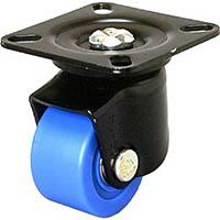 【CAINZ DASH】シシク 低床重荷重用キャスター 自在 50径 MC車輪 黒