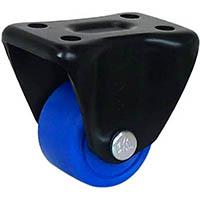【CAINZ DASH】シシク 低床重荷重用キャスター 固定 75径 MC車輪 黒