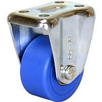 【CAINZ DASH】シシク 低床重荷重用キャスター 固定 50径 MC車輪 三価クロメート