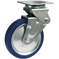【CAINZ DASH】シシク 緩衝キャスター 自在 150径 スーパーソリッド車輪