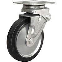 【CAINZ DASH】シシク 緩衝キャスター 自在 ゴム車輪 200径