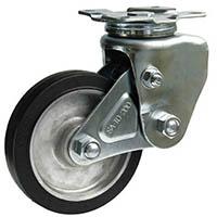 【CAINZ DASH】シシク 緩衝キャスター 自在 200径 ゴム車輪
