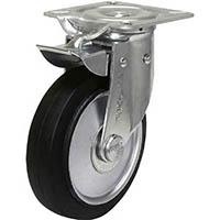 【CAINZ DASH】シシク 自在⇔固定切換キャスター ゴム車輪 130径