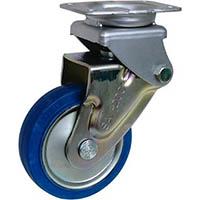 【CAINZ DASH】シシク 緩衝キャスター 固定 スーパーソリッド車輪 200径