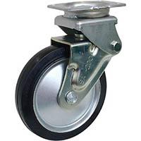 【CAINZ DASH】シシク 緩衝キャスター 固定 ゴム車輪 200径
