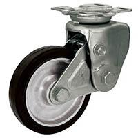 【CAINZ DASH】シシク 緩衝キャスター 固定 200径 ゴム車輪