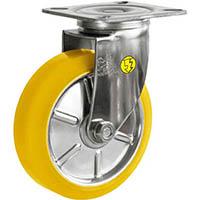 【CAINZ DASH】シシク ステンレスキャスター 制電性ウレタン車輪付自在