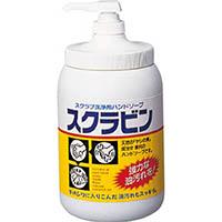 【CAINZ DASH】サラヤ 油汚れ用ハンドソープ スクラビン 1.2kgポンプ付